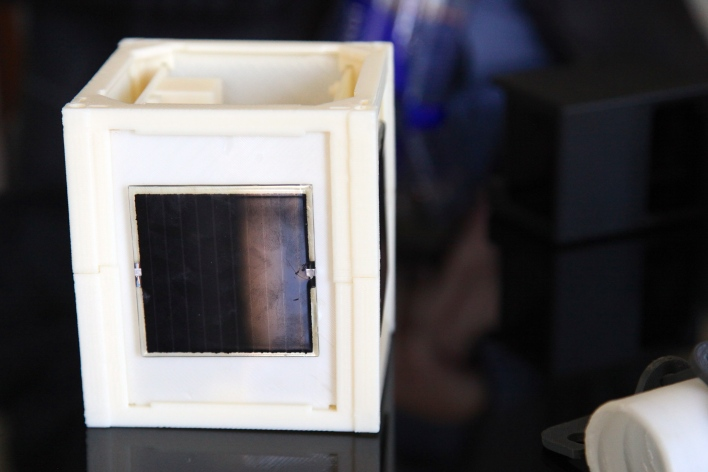 A prototype of a CubeSat printed at Made in Space. Photo by Signe Brewster