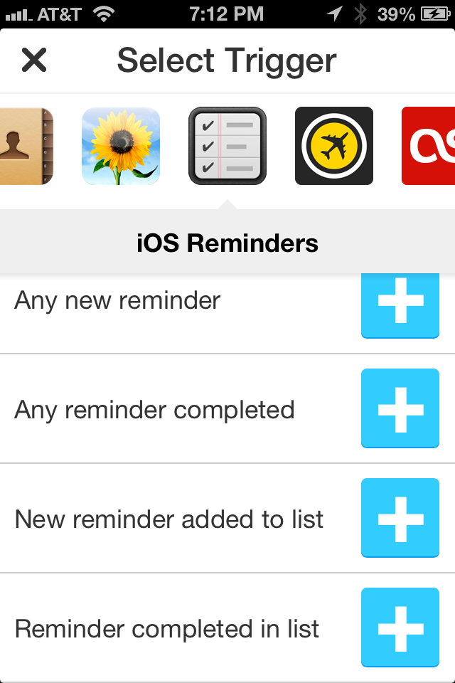 iOS Reminders for IFTTT