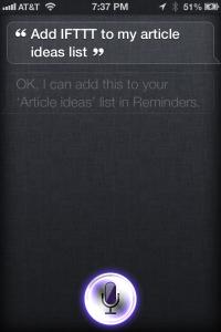IFTT and Siri
