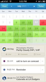 UpTo Calendar iOS app