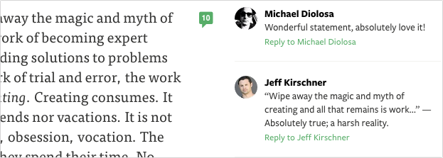 Medium comment screenshot