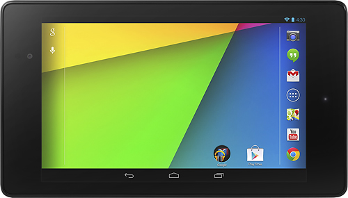 New Nexus 7 front landscape