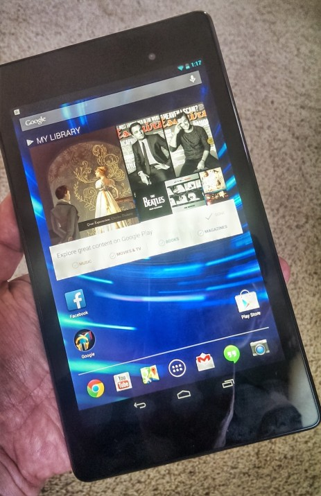 Nexus 7 in hand