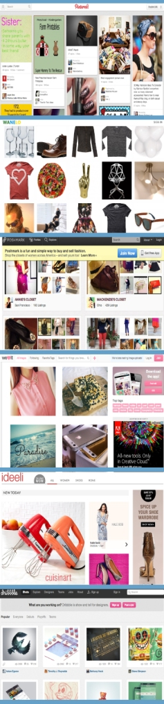 pinterest sites grid design
