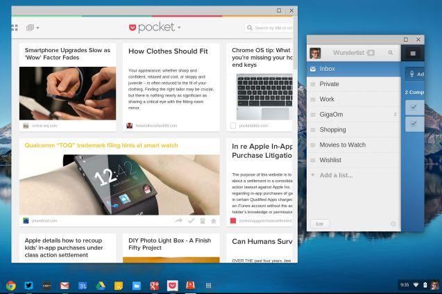 Pocket and Wunderlist apps
