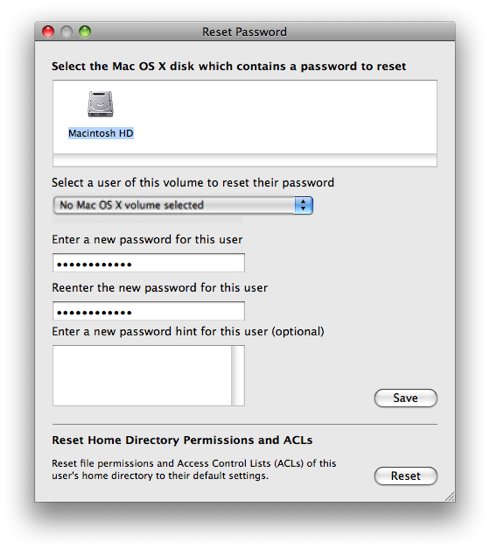 Reset Password on your Mac