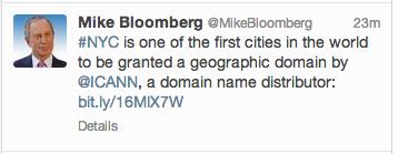 Screenshot of Bloomberg .nyc