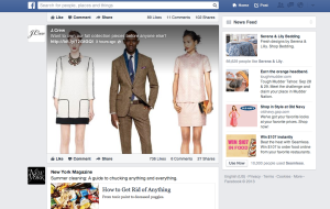 Facebook Newsfeed ads catalog 2013