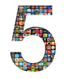 iOS App Store 5 year anniversary art