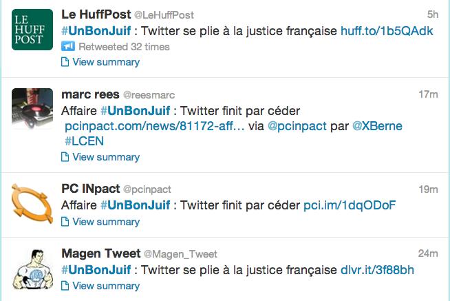 Twitter unbonjuif screenshot