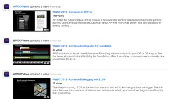 WWDC videos YouTube