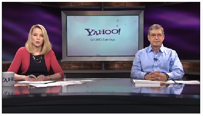 Marissa Mayer Ken Goldman Yahoo earnings call video