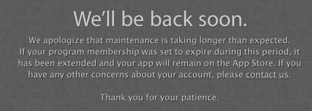 Apple Developer Website Outage