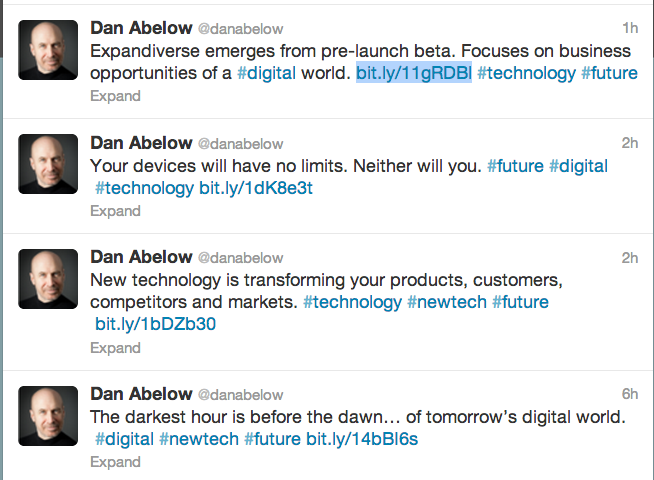 Dan Abelow Twitter screenshot
