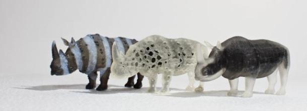 MIT 3D printed foam rhinoceros