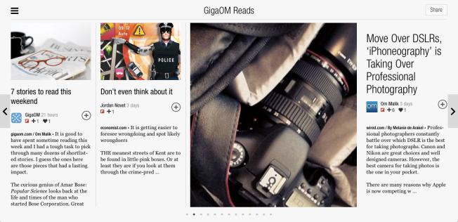 GigaOM Reads
