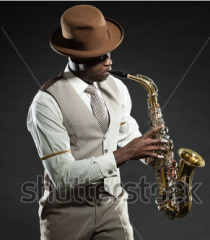 Sax player, music