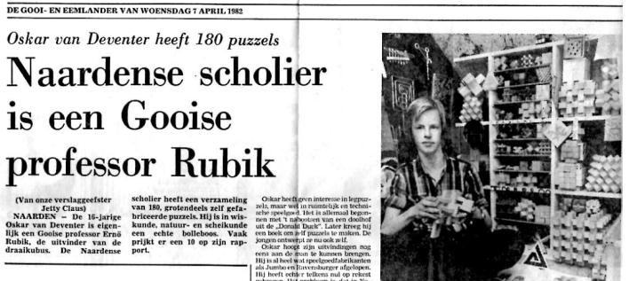 Oskar van Deventer newspaper clipping
