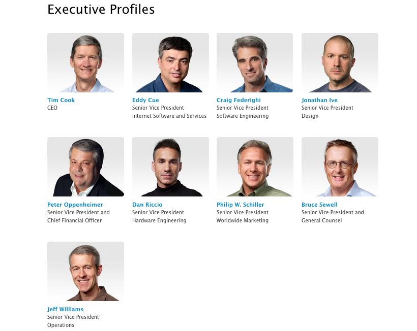 Apple Leadership team July 2013