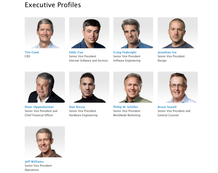 Apple Leadership team July 2013
