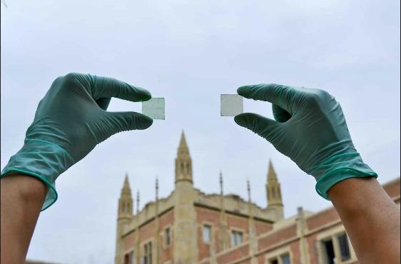 Transparent solar film