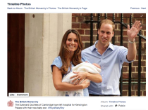 Royal Baby Facebook news event post
