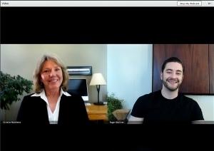 A provider and patient speak via videoconference on Breakthrough.