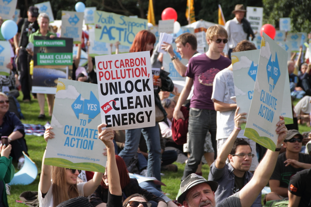 Protest, green energy, crowd