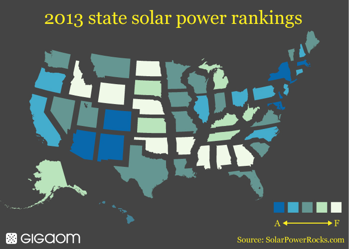 Which US states are hot for solar power map Tech News and Analysis