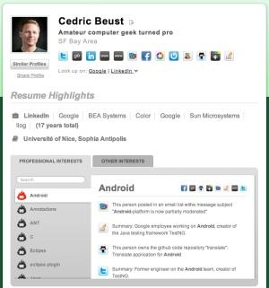 TalentBin Cedric Beust screenshot