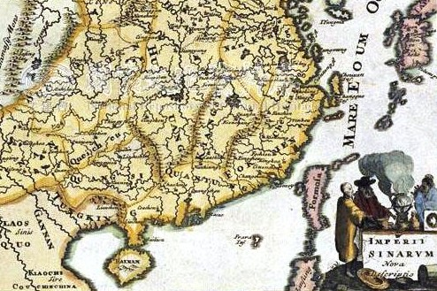 1650_Map_of_Formosa_(Taiwan),_Philippines,_Tibet,_Japan,_Korea,_and_China_by_Italian_義大利人所繪福爾摩沙-臺灣,_菲律賓,_中南半島,_圖博(西藏),_高麗,_日本,_與中國