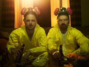 Walter White and Jesse Pinkman on Breaking Bad