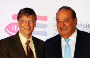 Bill Gates and Carlos Slim