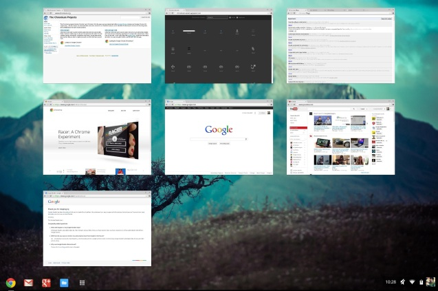 ChromeOS overview mode