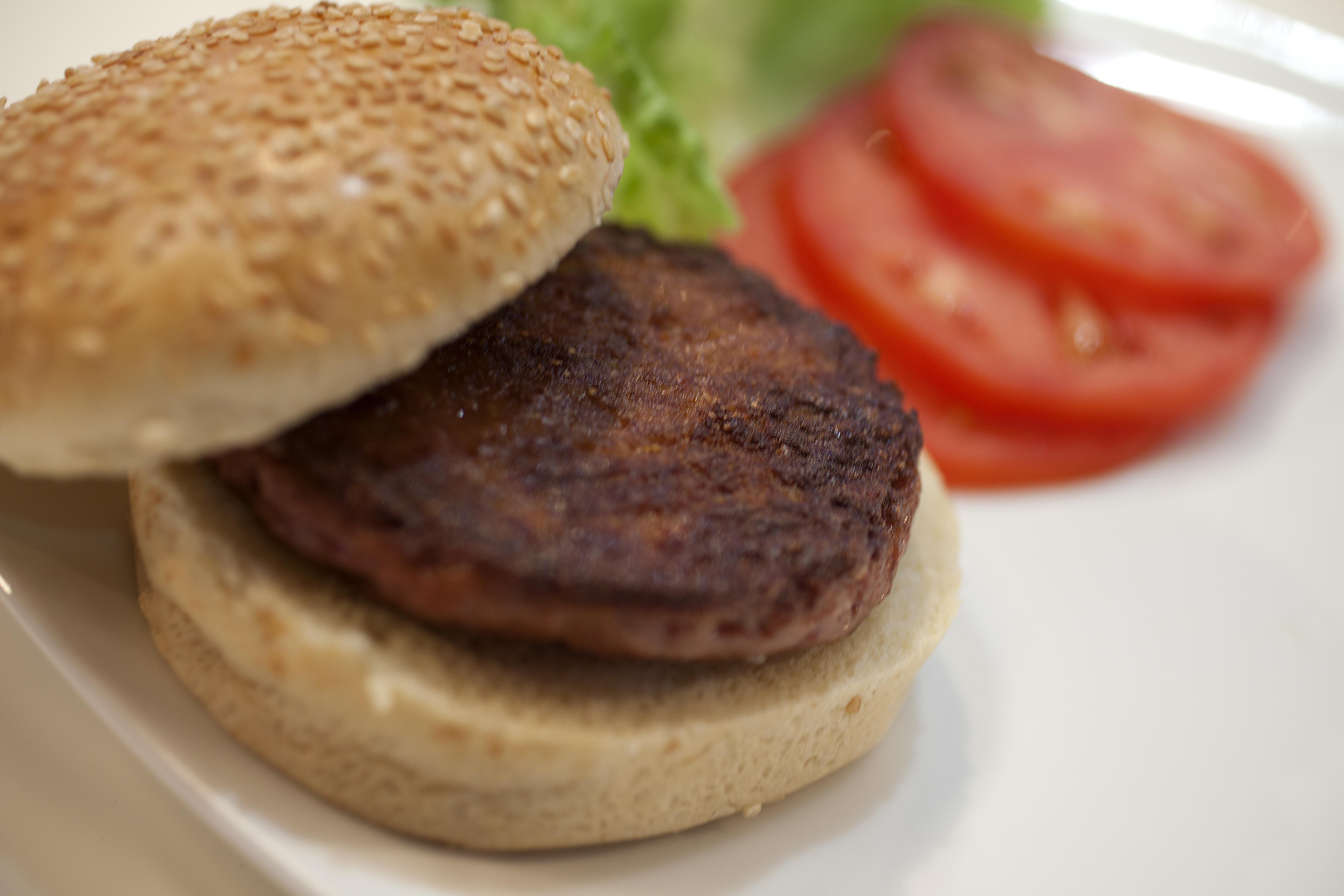 Cultured beef hamburger taste test