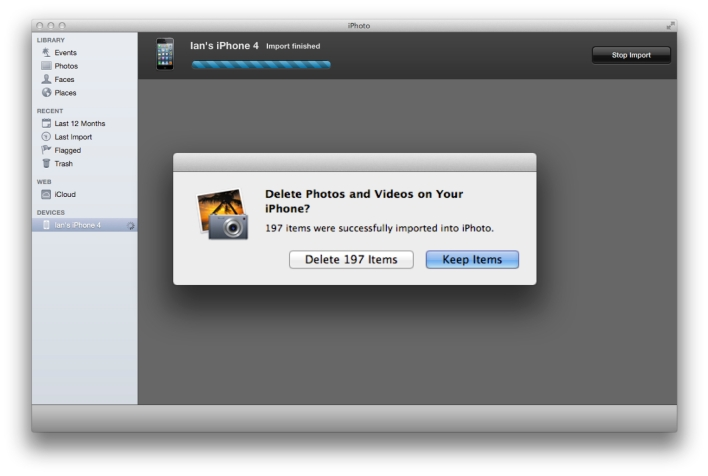 Delete Camera Roll with iPhoto