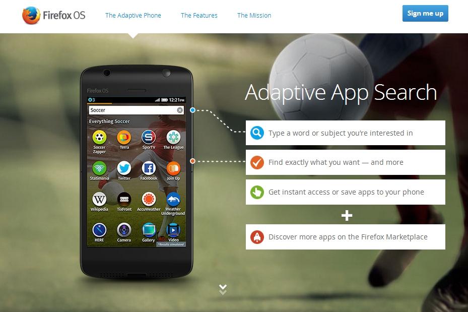 Firefox OS Adaptive Search