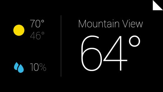 Google Glass Now Weather