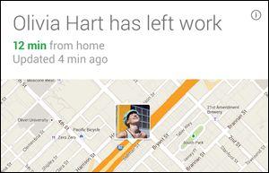 Google Now commute