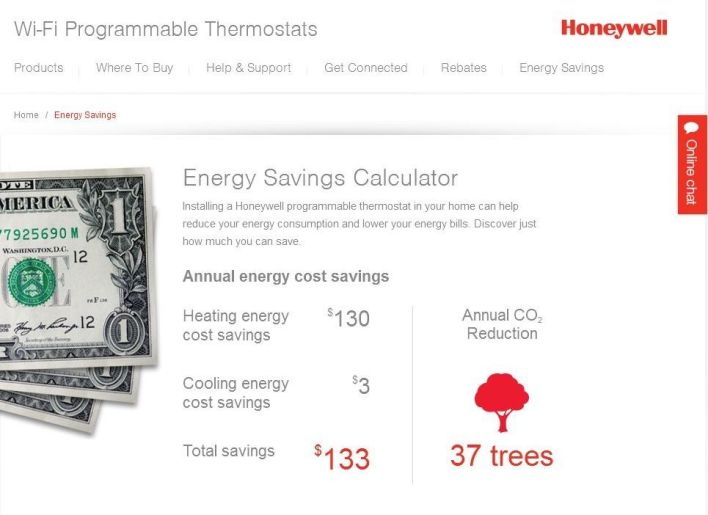 Honeywell energy savings calculator