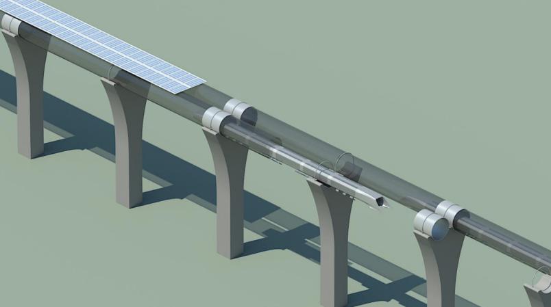 hyperloop capsule in tube