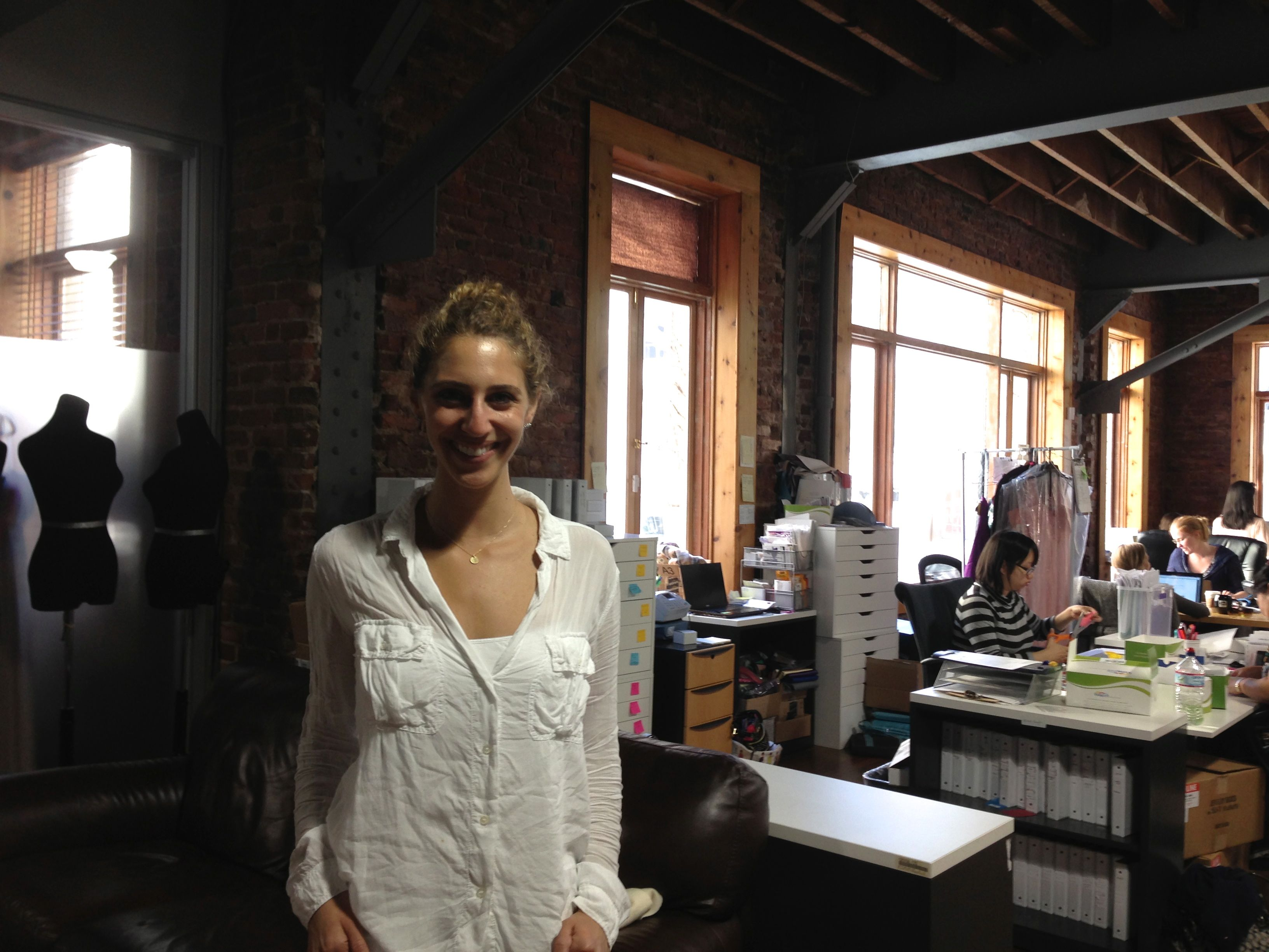 Ilana Stern stands in the offices of Weddington Way in San Francisco.