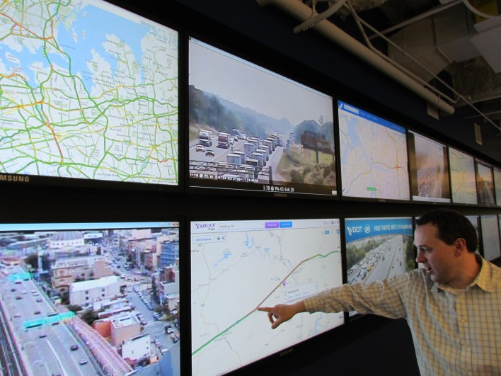 Nokia's North American traffic tracking center in Chicago