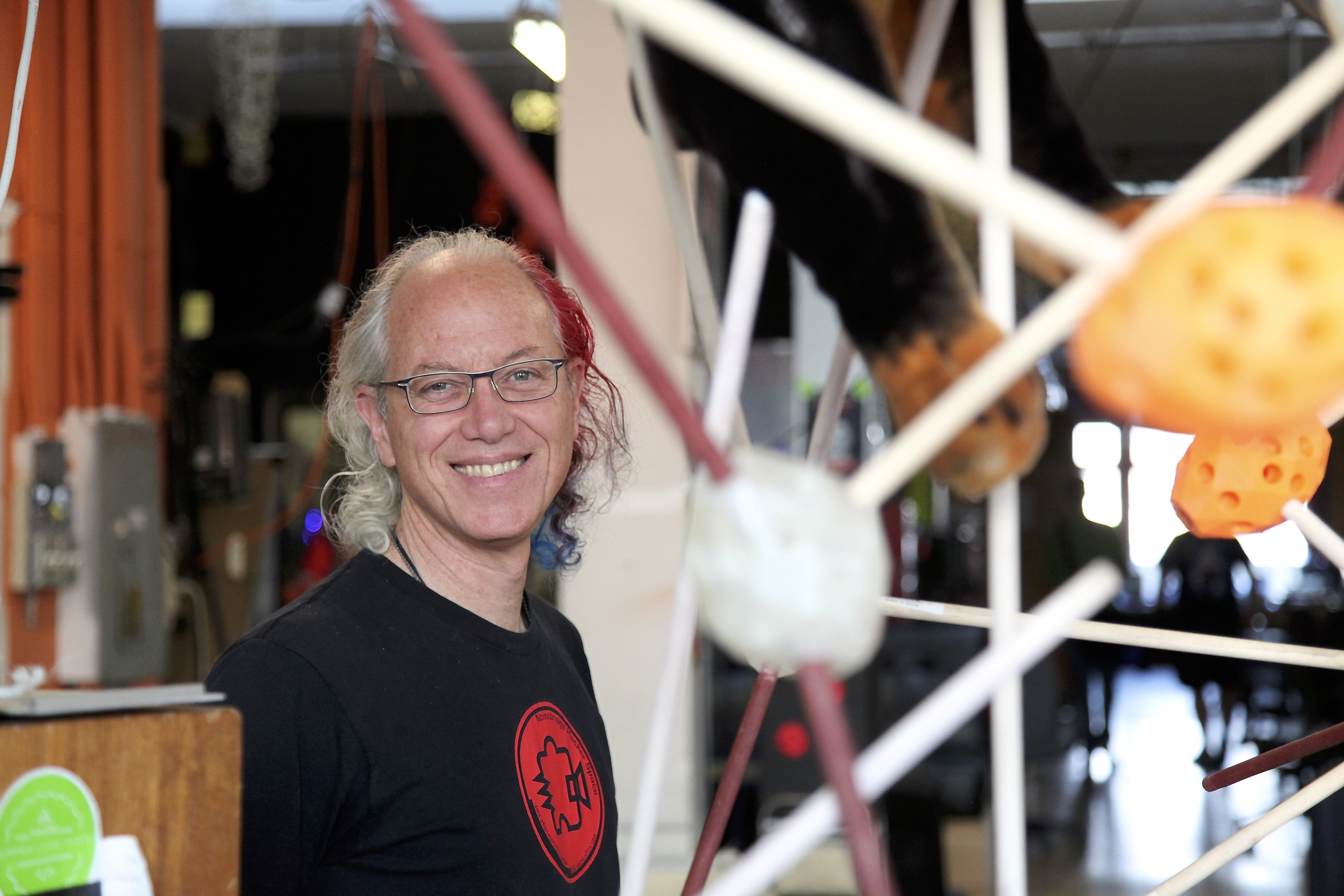 Mitch Altman is a hacker, inventor and co-founder of Noisebridge. He's considered a pioneer of virtual reality. Photo by Signe Brewster