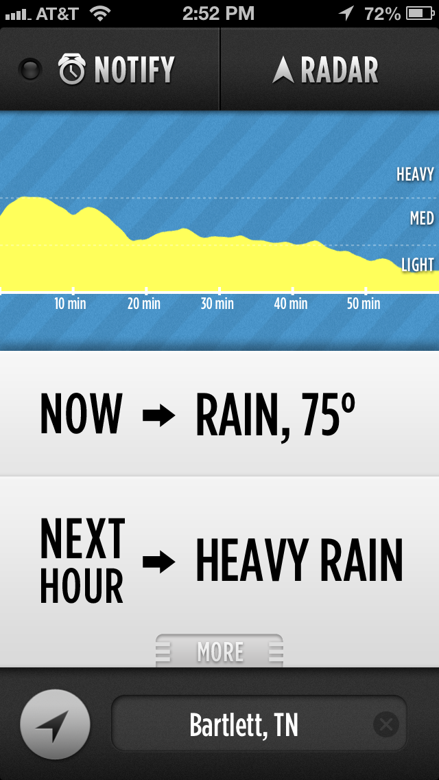 Dark Sky iOS weather