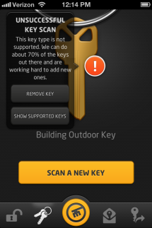 KeyMe Error