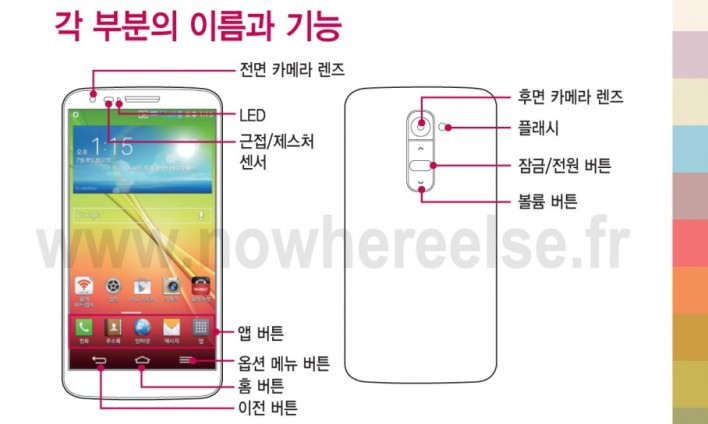 LG G2 manual leak