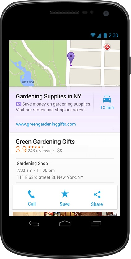 Maps ads