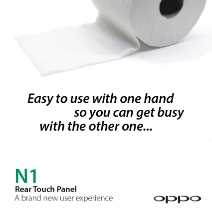 Oppo n1 toilet paper