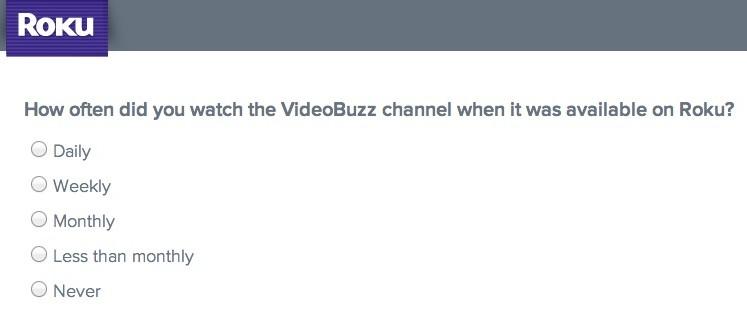roku survey videobuzz